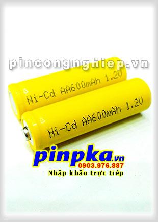 Pin Sạc Công Nghiệp-Pin Cell 1,2v NiCD AA 600mAh